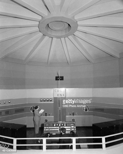 Interior photo from the KNX transmitter located in Columbia Square at 6121 Sunset Boulevard in Hollywood Los Angeles California home of CBS's Los...