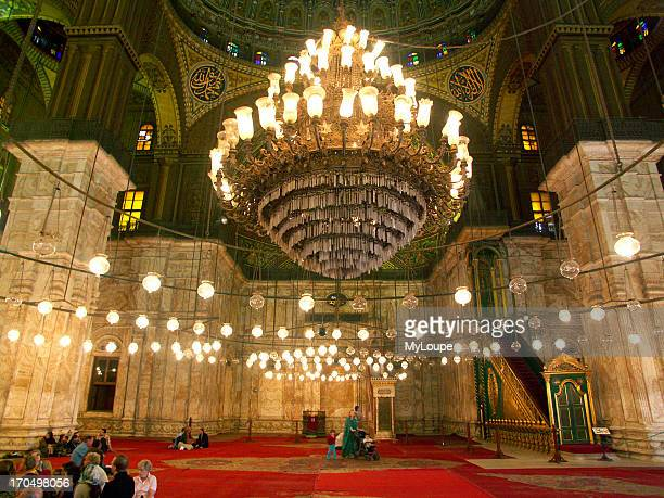 Interior Prayer Hall Of The Muhammad Ali Mosque Also Known As The Alabaster Mosque In Cairo Egypt The Mosque Was Built On The Site Of The Mamluk...
