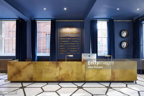 Interior reception view. 21 Soho Square, London, United Kingdom. Architect: Buckley Gray Yeoman, 2018.