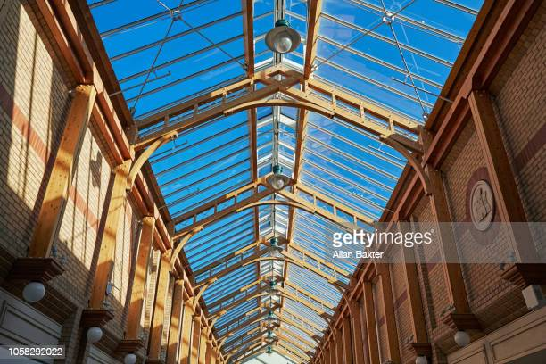 Interior roof of the 'Green Lanes' shopping centre