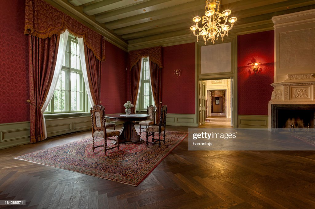 Interior room of an old manor house : Stock Photo