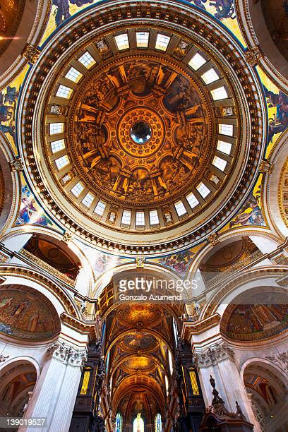interior saint paul cathedral , - st. paul's cathedral london stock pictures, royalty-free photos & images
