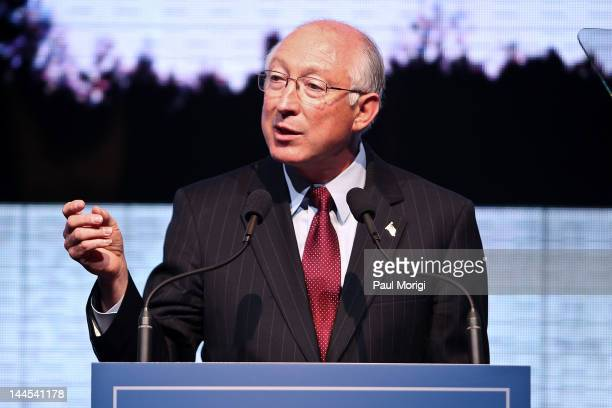 S Interior Secretary Ken Salazar speaks at An Evening of Remembrance a fundraising event for the Flight 93 National Memorial Campaign at The Newseum...