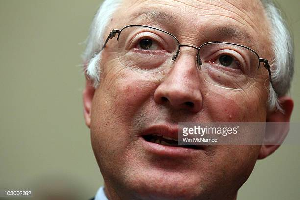 S Interior Secretary Ken Salazar testifies before the House Energy and Commerce Committee and Energy and Environment Subcommittee's joint hearing...