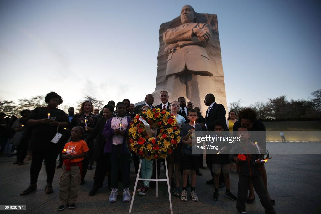 Candlelight Vigil At Martin Luther King Jr. Memorial Marks Anniversary Of His Assassination