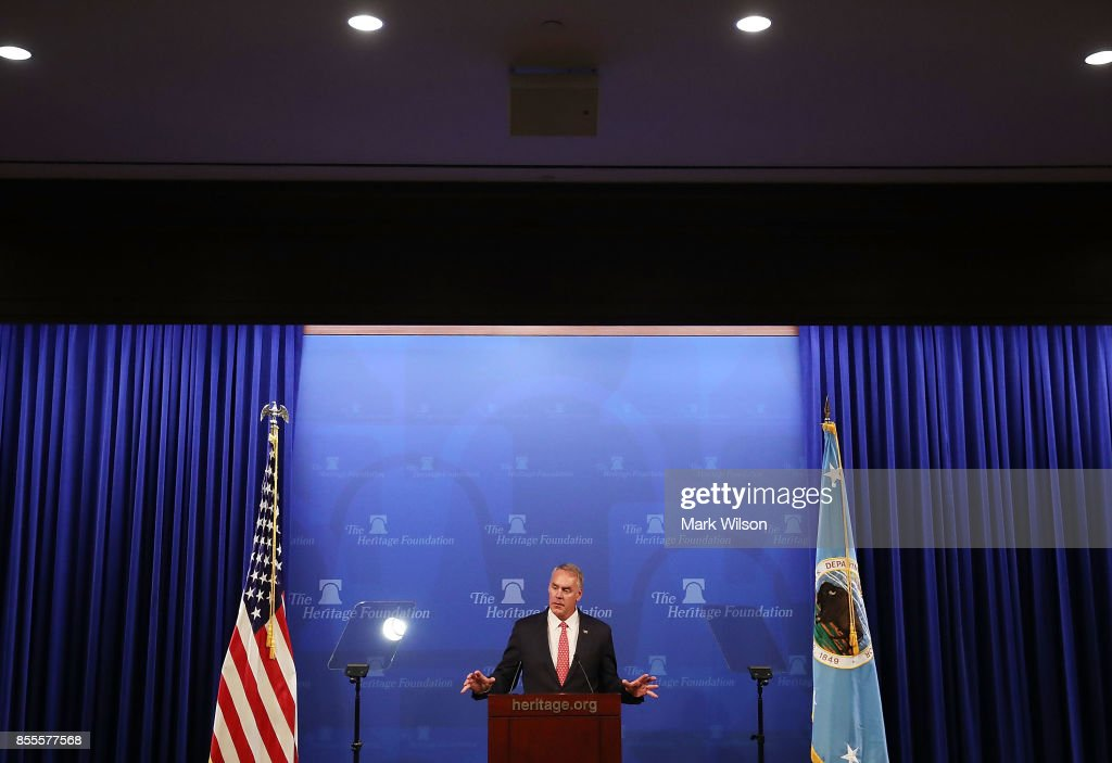 "Interior Secretary Zinke Discusses ""Vision For American Energy Dominance"""