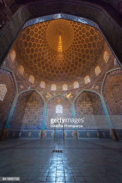Interior Sheikh Lotfollah Mosque in Naqsh-e-Jahan Square
