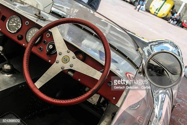 Interior shot of a 1958 Lotus X1 1500, standing in the paddock during Spa-CLassic, May 25th, 2013 at Spa-Francorchamps Circuit in Belgium.