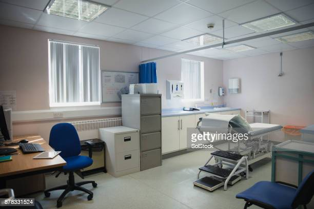 interior shot of a doctors office - doctor's surgery stock pictures, royalty-free photos & images