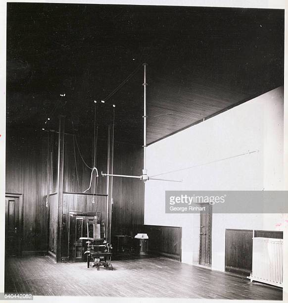 Interior shot of the execution chamber at Sing Sing prison 1906