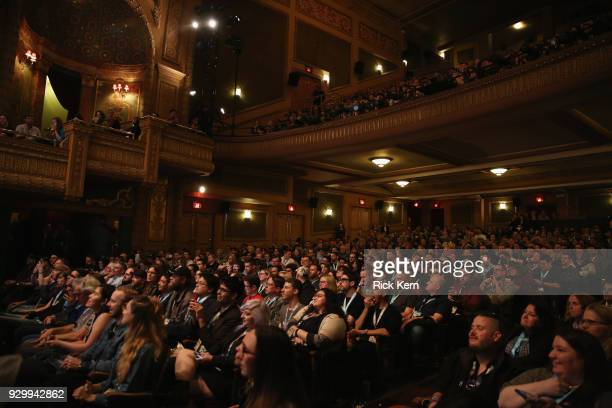 Interior shot of The Paramount Theater during the Opening Night Screening and World Premiere of 'A Quiet Place' during the 2018 SXSW Film Festival on...