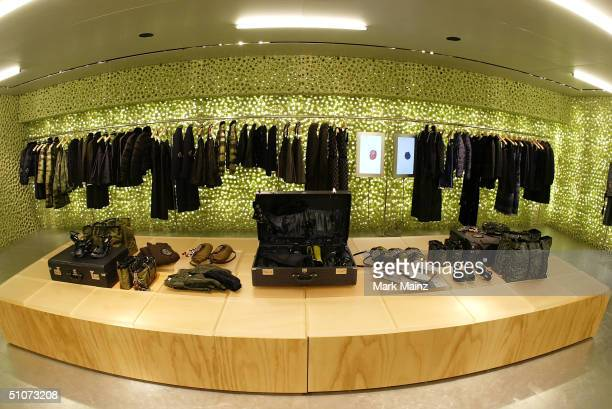 Interior shots of the new PRADA store on Rodeo Drive July 15, 2004 in Beverly Hills, Los Angeles, California.