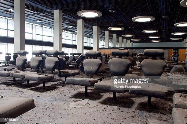 Interior spaces of the abandoned airport of Nicosia.The airport was closed after the Turkish invasion in 1974. Now is the headquarters of United...