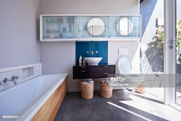 interior still life image of bathroom designed villa - bathroom stock photos and pictures