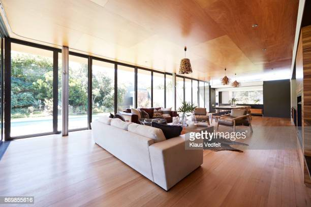 interior still life image of living room in designed villa - ceiling stock pictures, royalty-free photos & images