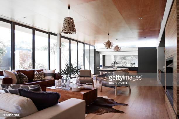 interior still life image of living room in designed villa - インテリア ストックフォトと画像
