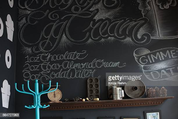 Interior style and decoration of wall in bakery