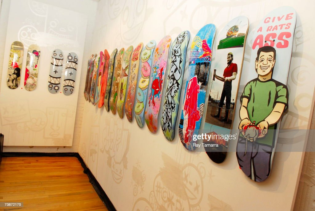 Interior view at the Untitled Original Skateboard Art Exhibition Opening Party at the Eye Jammie Fine Arts Gallery, on April 12, 2007 in New York City.
