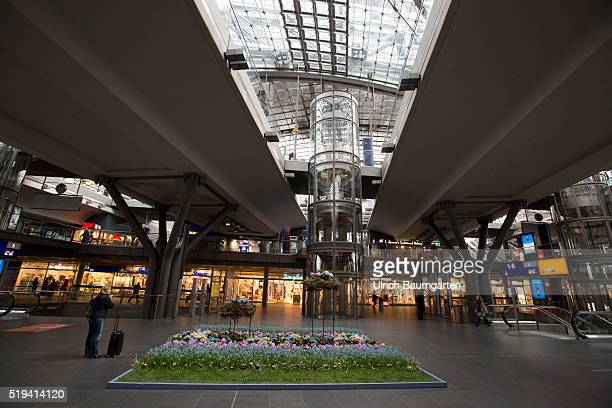 Interior view Berlin Central Station