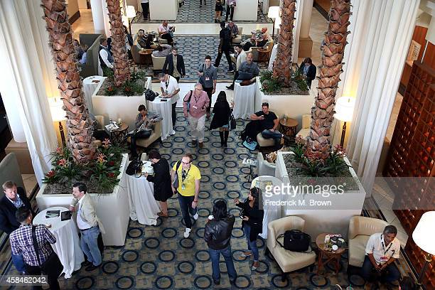 Interior view during The 2014 American Film Market at the Loews Santa Monica Beach Hotel on November 5 2014 in Santa Monica California