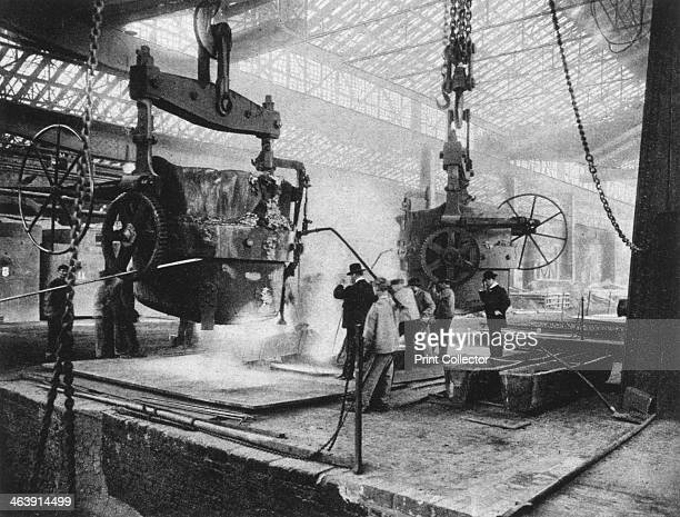 Interior view Krupp works Essen Ruhr Germany World War I 1917 Krupp enjoyed a monopoly on arms manufacturing in Germany during World War I From Der...