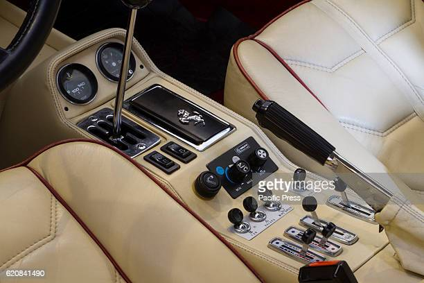 Interior view of 1982 Ferrari 308 GTSi during Classic cars auction in Turin, Italy.