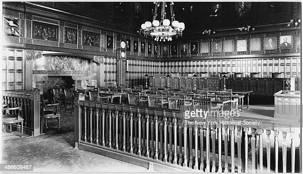 Interior view of a courtroom at the Court of Appeals Albany New York 1895