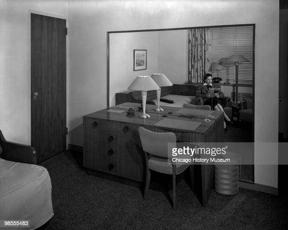 Interior View Of A Hotel Room With