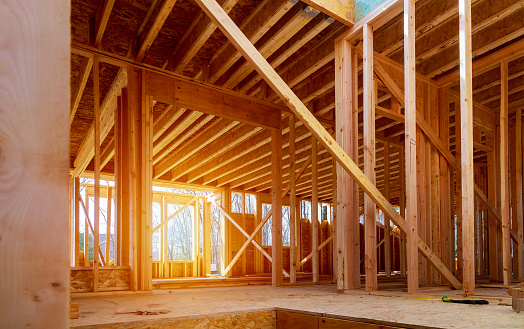 Interior view of a house under construction 1148509106