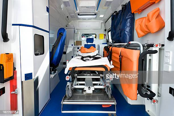 Interior view of a modern ambulance
