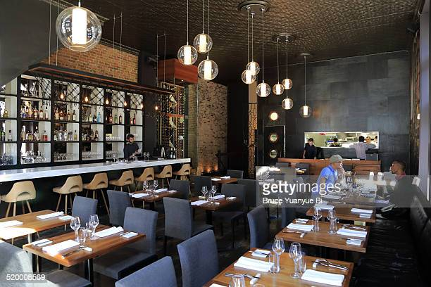Interior view of a restaurant
