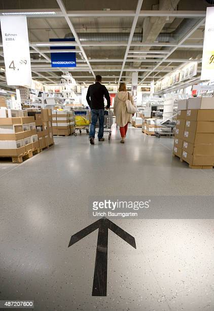 Interior view of an Ikea store in Cologne Customers