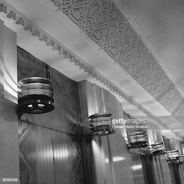 Interior view of architectural details located within the Rookery Building at 209 South LaSalle Street, on the corner of La Salle and Adams streets...