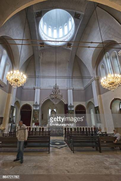 interior view of armenian apostolic church in batumi. - emreturanphoto stock pictures, royalty-free photos & images