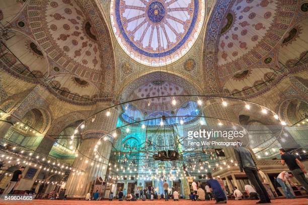 Interior View Of Blue Mosque, Istanbul, Turkey