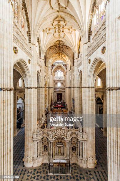 Interior view of Catedral Nueva (New Cathedral) in Spain, Castile-Leon, Salamanca