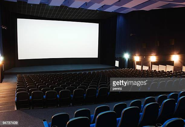 interior view of cinema theater - projection screen stock pictures, royalty-free photos & images