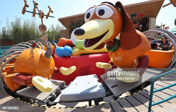 Interior view of Disney Pixar Toy Story Land at the Shanghai Disney Resort on April 26 2018 in Shanghai China Based on Pixar's Toy Story characters...