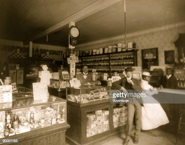 Interior view of 'Dr McDougal's Drug Store'