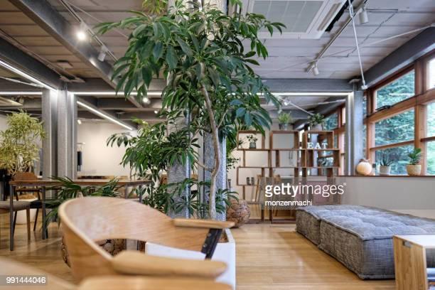 空カフェのインテリア ビュー - インテリア ストックフォトと画像