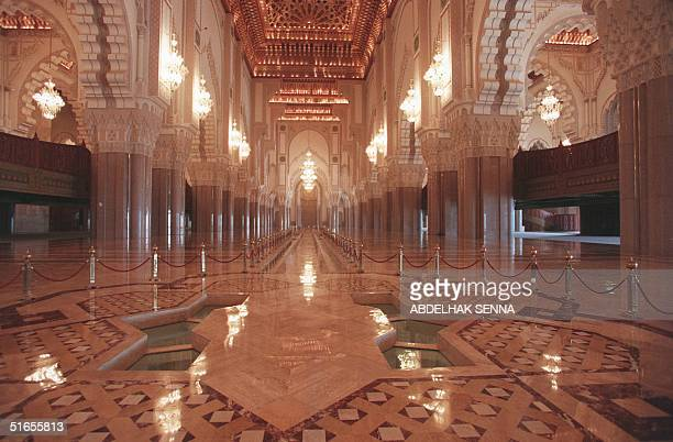 Interior view of Hassan II mosque shot10 July 1998 in Casablanca vue interieure de la MosquTe Hassan II de Casablanca prise le 10 juillet 1998