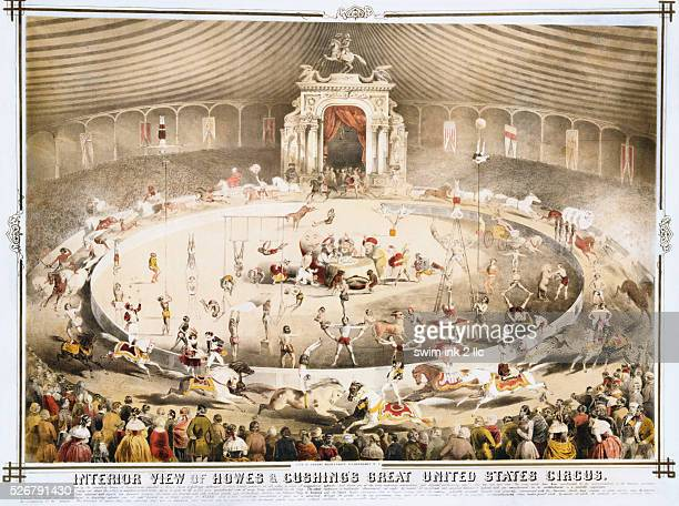 Interior View of Howes Cushing's Great United States Circus Poster