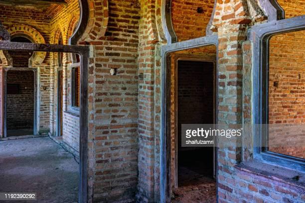 interior view of kellie's castle. made by brick and wood. - shaifulzamri imagens e fotografias de stock