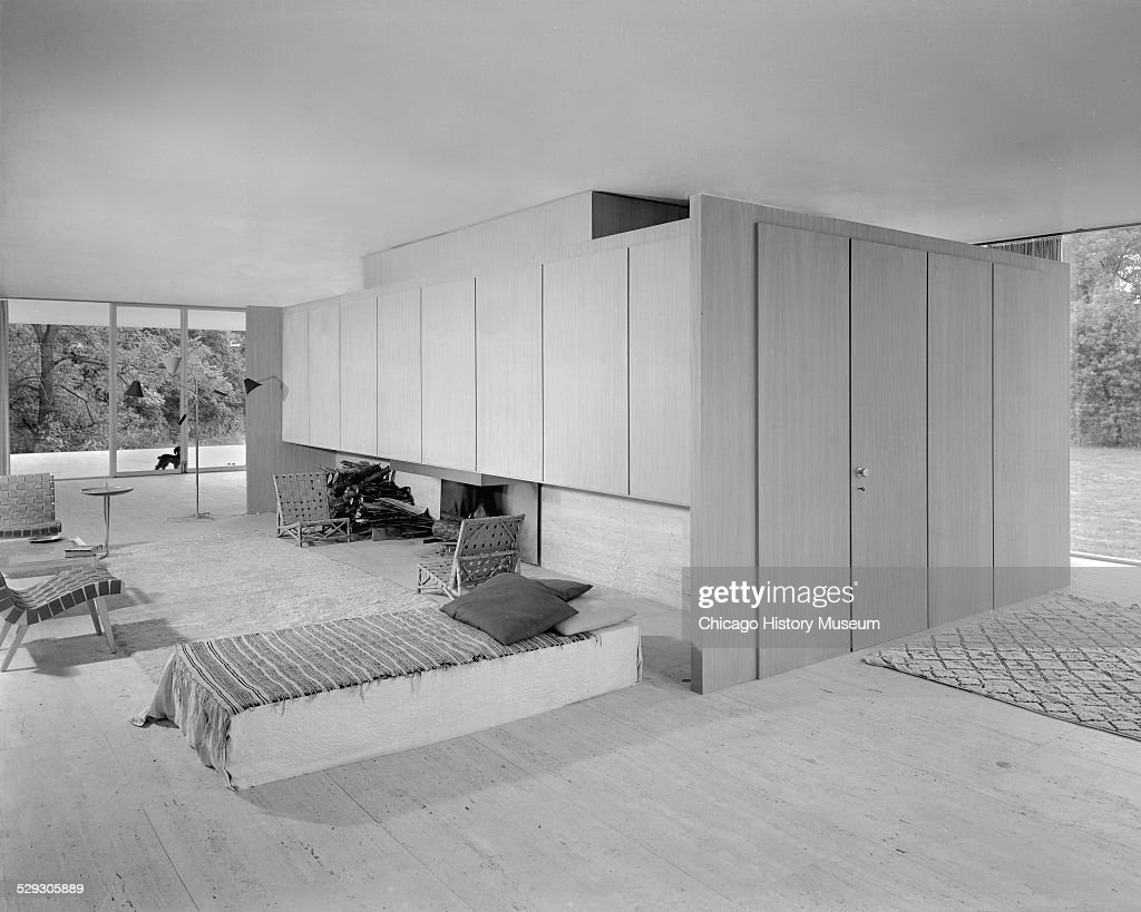 Interior View Of Living Space Of Farnsworth House, December 20, 1951. The  View
