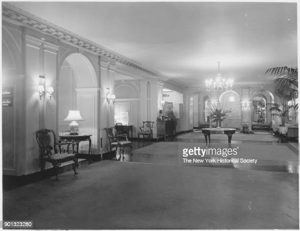 Interior view of lobby at the Pierre New York New York 1929