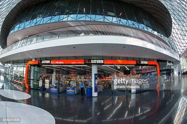 Interior view of MyZeil a shopping mall designed by Roman architect Massimiliano Fuksas in Zeil main shopping district in Frankfurt Germany 01 July...