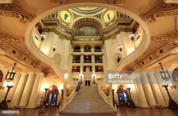 interior view of pennsylvania state capitol - harrisburg pennsylvania stock pictures, royalty-free photos & images