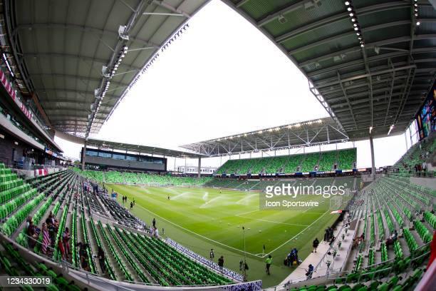 Interior view of Q2 Stadium prior to the Gold Cup semifinal match between the United States and Qatar on Thursday July 29th, 2021 at Q2 stadium in...