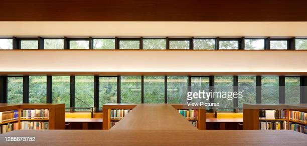 Interior view of reading room. Study Centre at St Johns College Library, Oxford, United Kingdom. Architect: Wright & Wright Architects LLP, 2019.