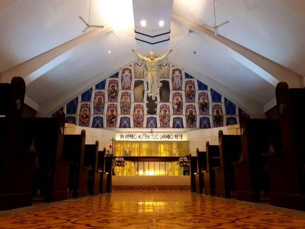 Interior view of Saint Barnabas Catholic Church in Tangerang Selatan, Indonesia